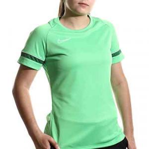 Camiseta Nike Dri-Fit Academy 21 mujer - Camiseta de maga corta de mujer para entrenamiento fútbol Nike - verde - miniatura frontal