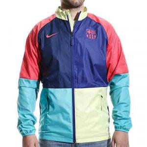 Cortavientos Nike Barcelona 2021 Dry Repel Academy - Cortavientos Nike del FC Barcelona 2021 - azul y rosa - miniatura frontal