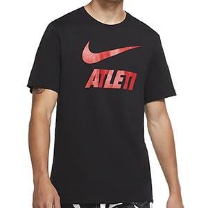 Camiseta algodón Nike Atlético Ground - Camiseta de algodón Nike del Atlético de Madrid - negra - miniatura