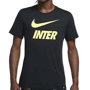 Camiseta de algodón Nike Inter Ground - Camiseta de algodón Nike del Inter de Milán - negro - miniatura