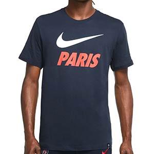 Camiseta algodón Nike PSG Ground - Camiseta de algodón Nike del Paris Saint-Germain - azul marino - frontal