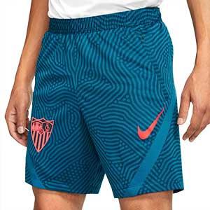 Short Nike Sevilla entreno 2020 2021 - Pantalón corto de entrenamiento Nike del Sevilla FC 2020 2021 - azul - frontal