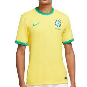 Camiseta Nike Brasil 2020 Stadium - Camiseta primera equipación Nike selección Brasil 2020 - amarilla - frontal