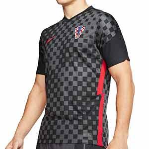 Camiseta Nike 2a Croacia 2020 2021 Stadium - Camiseta segunda equipación Nike selección de Croacia 2020 2021 - gris oscuro - frontal