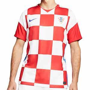 Camiseta Nike Croacia 2020 2021 Stadium - Camiseta primera equipación Nike selección Croacia 2020 2021 - blanca y roja - frontal