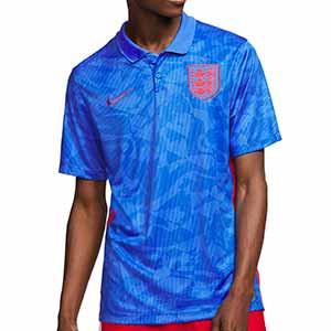 Camiseta Nike Inglaterra 2a 2020 2021 Stadium - Camiseta segunda equipación Nike selección de Inglaterra 2020 2021 - azul - frontal