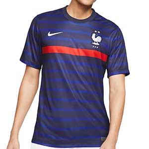 Camiseta Nike Francia 2020 2021 Stadium - Camiseta primera equipación Nike de la selección de Francia 2020 2021 - azul marino - frontal
