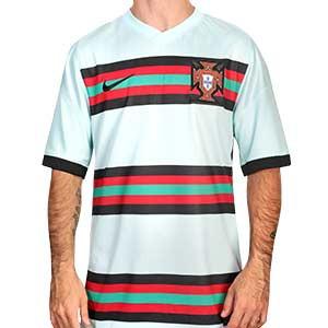 Camiseta Nike Portugal 2a 2020 2021 Stadium - Camiseta de la segunda equipación Nike de la selección de Portugal 2020 2021 - verde turquesa - frontal