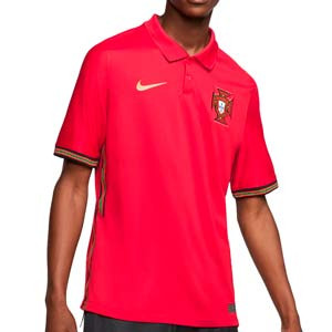 Camiseta Nike Portugal 2020 2021 Stadium - Camiseta primera equipación selección de Portugal 2020 2021 - roja - frontal