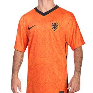 Camiseta Nike Holanda 2020 2021 Stadium - Camiseta primera equipación Nike selección Holanda 2020 2021 - naranja - frontal