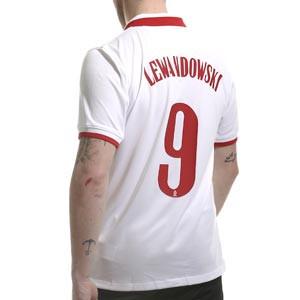 Camiseta Nike Lewandowski Polonia 2020 2021 Stadium - Camiseta primera equipación Robert Lewandowski Nike selección de Polonia 2020 2021 - blanca - frontal