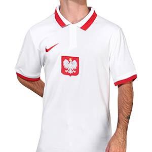 Camiseta Nike Polonia 2020 2021 Stadium - Camiseta primera equipación Nike selección de Polonia 2020 2021 - blanca - frontal