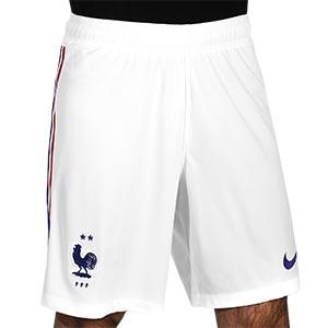 Short Nike 2a Francia 2020 2021 Stadium - Pantalón corto segunda equipación Nike selección Francia 2020 2021 - blanco - frontal