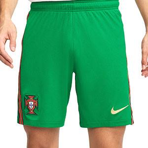 Short Nike Portugal 2020 2021 Stadium - Pantalón corto primera equipación Nike selección Portugal 2020 2021 - verde - frontal