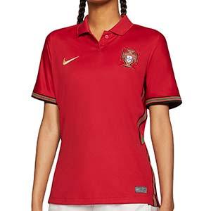 Camiseta Nike Portugal mujer 2020 2021 Stadium - Camiseta de mujer primera equipación Nike selección de Portugal 2020 2021 - roja - frontal