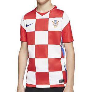 Camiseta Nike Croacia niño 2020 2021 Stadium - Camiseta infantil primera equipación Nike selección Croacia 2020 2021 - blanca y roja - frontal