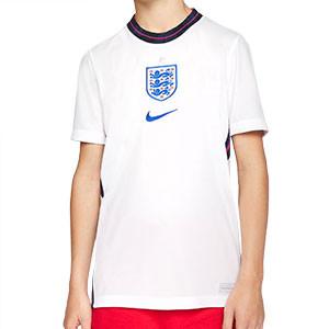 Camiseta Nike Inglaterra niño 2020 2021 Stadium - Camiseta infantil primera equipación Nike de la selección de Inglatera 2020 2021 - blanca - frontal