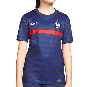 Camiseta Nike Francia niño 2020 2021 Stadium - Camiseta infantil primera equipación Nike de la selección de Francia 2020 2021 - azul marino - frontal