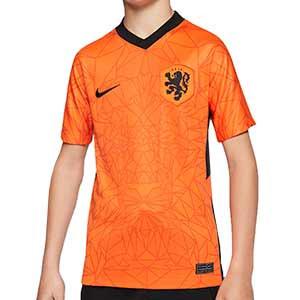 Camiseta Nike Holanda niño 2020 2021 Stadium - Camiseta infantil primera equipación Nike selección Holanda 2020 2021 - naranja - frontal