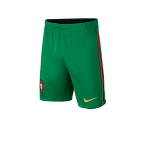 Short Nike Portugal niño 2020 2021 Stadium - Pantalón corto infantil primera equipación Nike selección Portugal 2020 2021 - verde - frontal