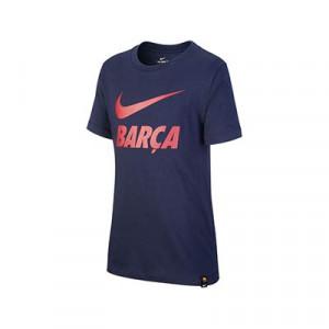 Camiseta algodón Nike Barcelona niño Ground - Camiseta infantil de algodón Nike del FC Barcelona - azul marino - frontal