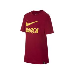 Camiseta algodón Nike Barcelona niño Ground - Camiseta infantil de algodón Nike del FC Barcelona - granate - miniatura