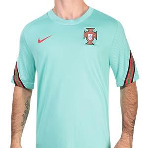 Camiseta Nike Portugal entreno 2020 2021 Strike - Camiseta de entrenamiento Nike selección de portuguesa 2020 2021 - verde turquesa - frontal