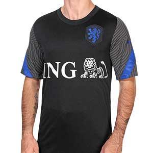 Camiseta Nike Holanda entreno 2020 2021 Strike - Camiseta entrenamiento Nike selección holandesa 2020 2021 - negra - frontal