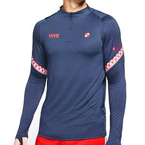 Sudadera Nike Croacia entreno 2020 2021 Strike - Sudadera de entrenamiento Nike de la selección croata 2020 2021 - azul marino - frontal