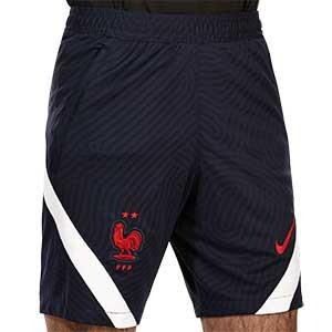 Short Nike Francia entreno 2020 2021 Strike - Pantalón corto entrenamiento Nike selección francesa 2020 2021 - azul marino - frontal