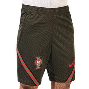 Short Nike Portugal entreno 2020 2021 Strike - Pantalón corto de entrenamiento Nike de la selección portuguesa 2020 2021 - verde oscuro - frontal