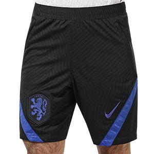Short Nike Holanda entreno 2020 2021 Strike - Pantalón corto de entrenamiento Nike de la selección holandesa 2020 2021 - negro - frontal