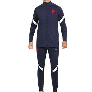 Chándal Nike Francia 2020 2021 Strike - Chándal Nike de la selección francesa 2020 2021 - azul marino - frontal