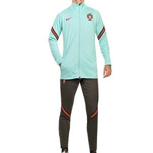 Chándal Nike Portugal 2020 2021 Strike - Chándal Nike de la selección portuguesa 2020 2021 - verde turquesa y oscuro - frontal