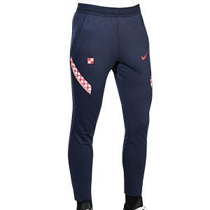 Pantalón Nike Croacia entreno 2020 2021 Strike - Pantalón largo entreno Nike selección croata 2020 2021 - azul marino - frontal
