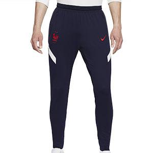 Pantalón Nike Francia entreno 2020 2021 Strike - Pantalón largo entreno Nike selección francesa 2020 2021 - azul marino - frontal