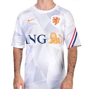 Camiseta Nike Holanda pre-match 2020 2021 - Camiseta pre partido Nike selección holandesa 2020 2021 - blanca - frontal