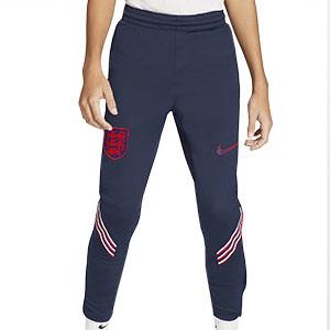 Pantalón Nike Inglaterra niño entreno 2020 2021 Strike - Pantalón largo infantil de entreno Nike de la selección inglesa 2020 2021 - azul marino - frontal