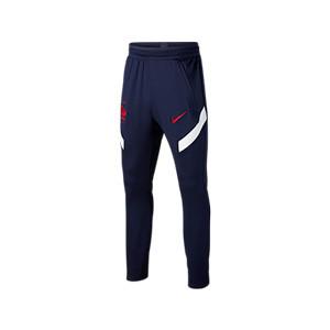 Pantalón Nike Francia niño entreno 2020 2021 Strike - Pantalón largo infantil entreno Nike selección francesa 2020 2021 - azul marino - frontal