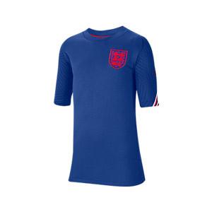 Camiseta Nike Inglaterra niño entreno 2020 2021 Strike - Camiseta infantil de entrenamiento de la selección inglesa 2020 2021 - azul - frontal