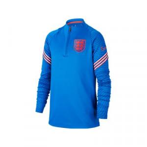 Sudadera Nike Inglaterra niño entreno 2020 2021 Strike - Sudadera infantil de entrenamiento Nike de la selección inglesa 2020 2021 - azul - frontal