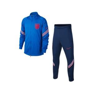 Chándal Nike Inglaterra niño entreno 2020 2021 Strike - Chándal infantil Nike de la selección inglesa 2020 2021 - azul - frontal