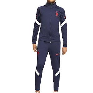 Chándal Nike Francia niño entreno 2020 2021 Strike - Chándal infantil Nike de la selección francesa 2020 2021 - azul marino - frontal