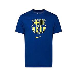 Camiseta algodón Nike Barcelona niño Evergreen Crest 2 - Camiseta de algodón infantil Nike del FC Barcelona 2019 2020 - azul - frontal