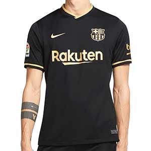 Camiseta Nike Barcelona 2a Stadium 2020 2021 - Camiseta Nike segunda equipación FC Barcelona 2020 2021 - negra y dorada - frontal