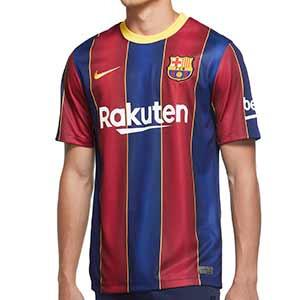 Camiseta Nike Barcelona Stadium 2020 2021 - Camiseta Nike primera equipación FC Barcelona 2020 2021 - azulgrana - miniatura