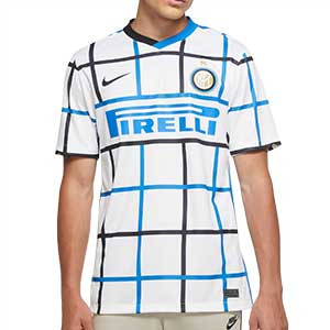 Camiseta Nike 2a Inter 2020 2021 Stadium - Camiseta segunda equipación Nike Inter de Milán 2020 2021 - blanca - frontal