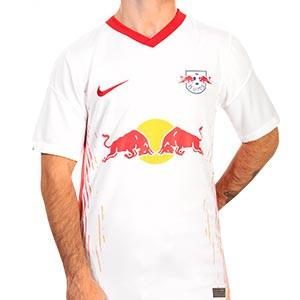 Camiseta Nike Red Bull Leipzig 2020 2021 Stadium - Camiseta primera equipación Nike Red Bull Leipzig 2020 2021 - blanca - frontal