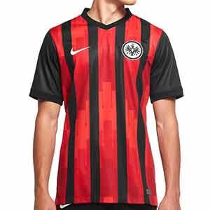 Camiseta Nike Eintracht Frankfurt 2020 2021 Stadium - Camiseta primera equipación Nike del Eintracht de Frankfurt de la temporada 2020 2021 - negra y roja - frontal