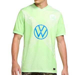 Camiseta Nike Wolfsburgo 2020 2021 Stadium - Camiseta primera equipación Nike VfL Wolfsburgo 2020 2021 - verde - frontal